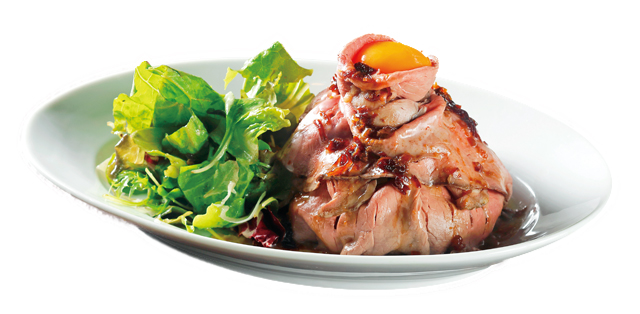 「SAKURAGI BUTCHER HORLY'S」のオリジナルローストビーフ丼