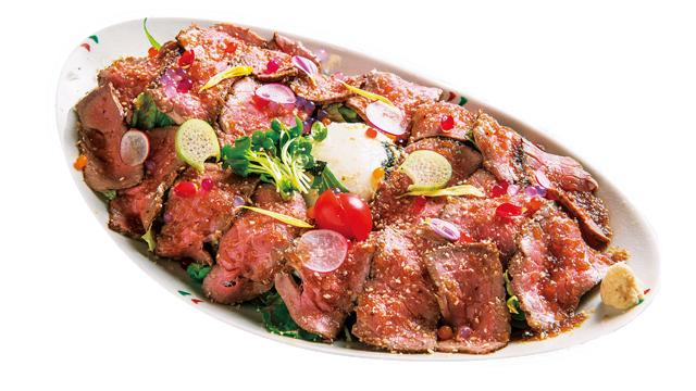 「めしや長次郎」のローストビーフ丼