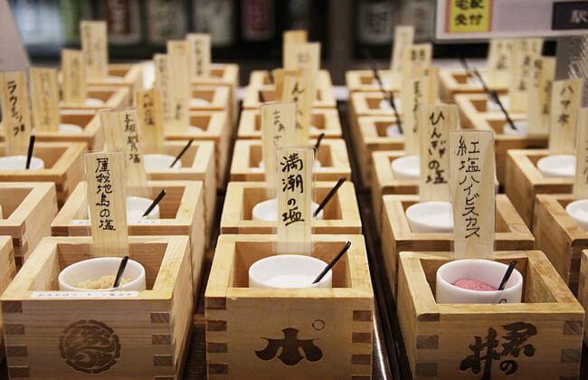 ぽんしゅ館 越後湯沢駅店の利き酒番所のおつまみ塩