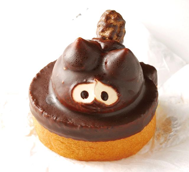 卯月堂菓子舗-たぬきケーキ目