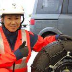 現役JAF隊員に聞く!タイヤチェーンの取付方法&雪道走行 5つの極意