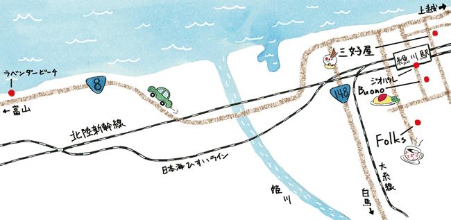 糸魚川コース地図