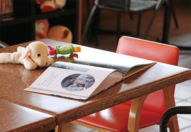 リラックスのテーブルと
