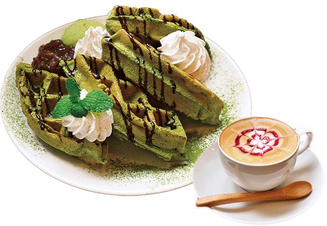 96 糸魚川店の人気のワッフル 抹茶(800円)