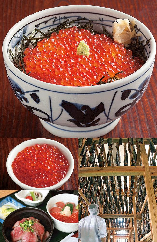 和食処 悠流里の特製はらこ丼