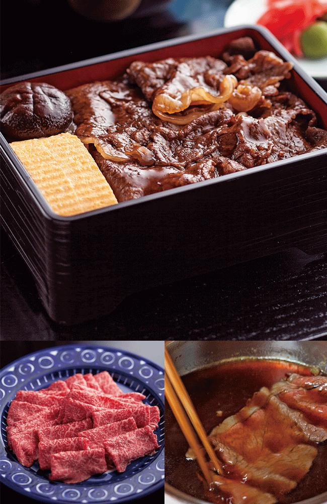 日本料理 松屋の村上牛すき煮飯