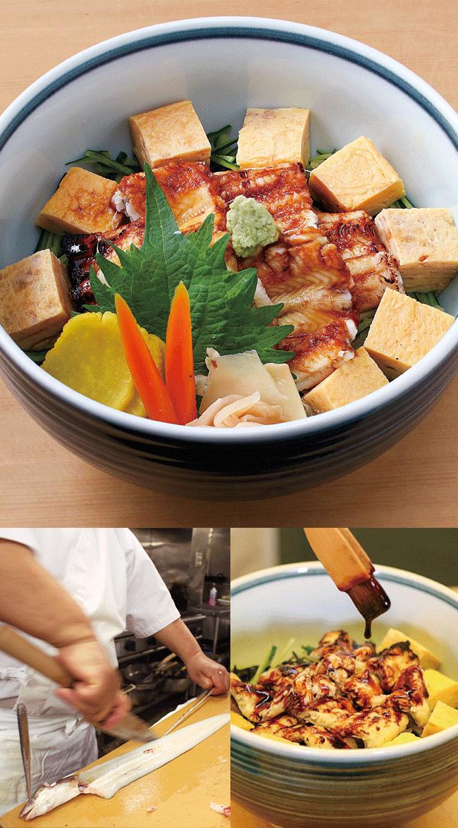 寿司 港すしのあなご丼