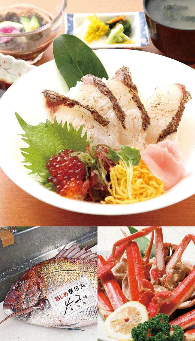 寺泊 きんぱちの湯の鯛の炙り丼