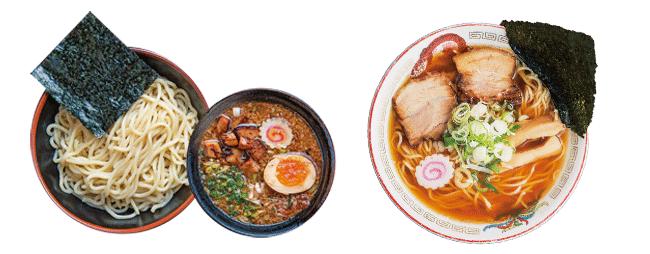 宝来軒 総本店の特つけ麺と煮干し中華ソバ