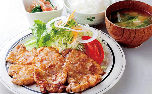 ぐりるかんだの生姜焼き定食 昼800円/ 夜1,100円