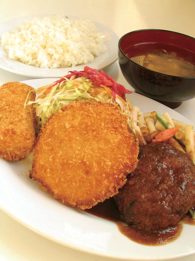 キッチン山倉の昼定食 640円