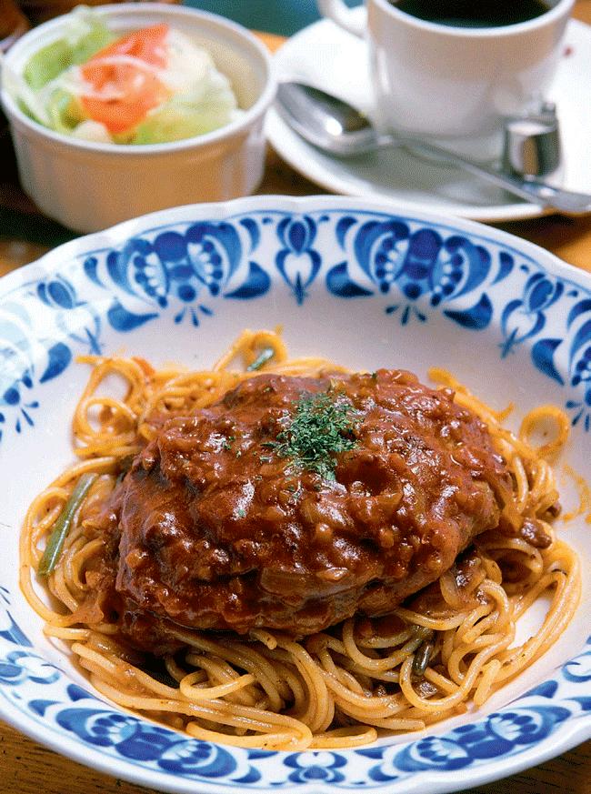 サントス珈琲店のハンバーグスパゲティ 980円