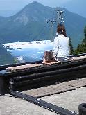 湯沢高原アルプの里「雲の上の足湯」