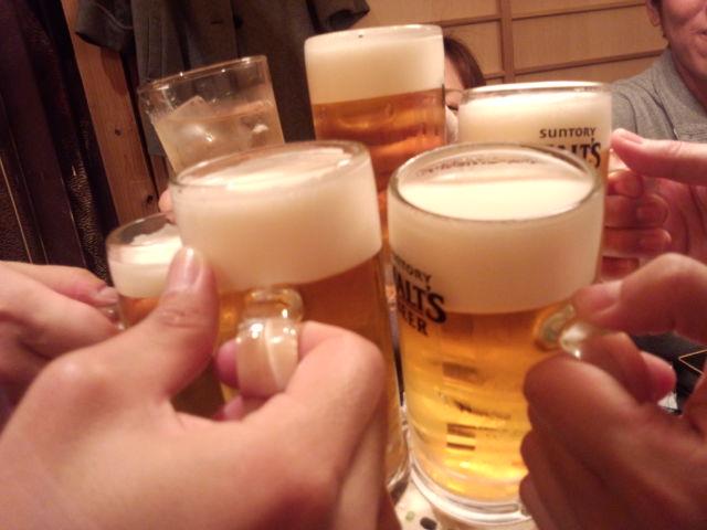 乾杯!新年会はビールで宴会~まいど~