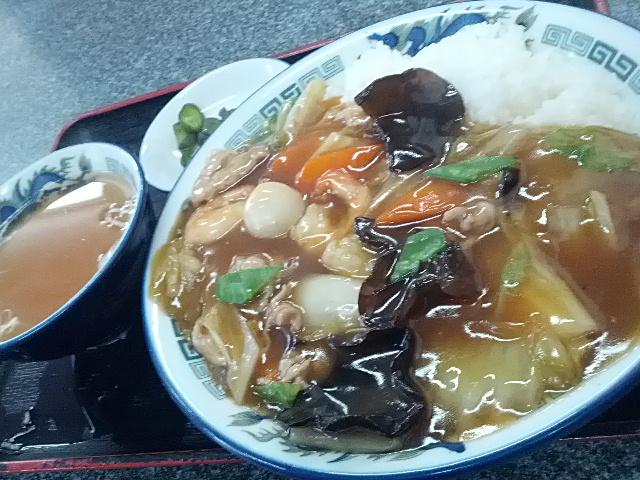 たっぷりアツアツあんが美味!な中華飯。