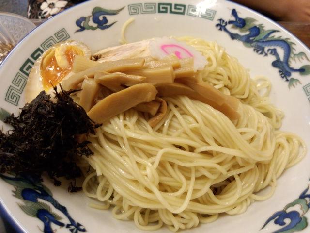 東堀の来味で食べた「なんとか冷やしつけ麺」かな???