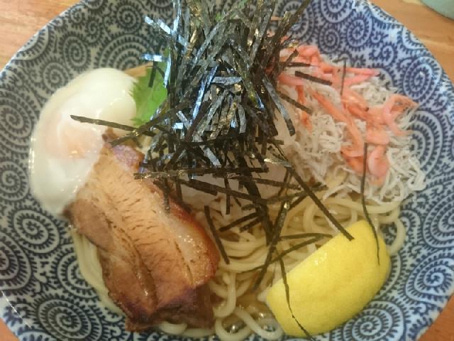 桜えびとしらすが美味♪和風ぶっかけ太麺の冷を食べたよ〜