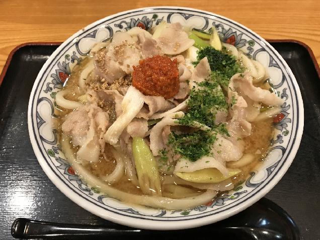 武蔵のからし味噌ラーメンがうどんに!「琴平うどん」の新メニュー!