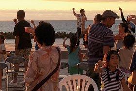 瀬波温泉 夏の夕日感謝祭