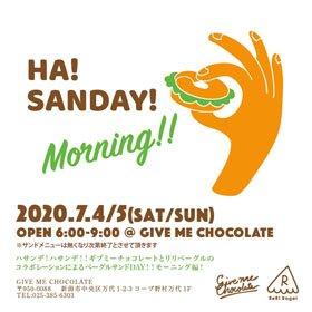 HA! SANDAY! Morning!!