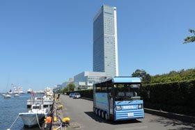 万代島地区 低速電動バス実証運行