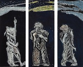 追悼 式場庶謳子 木版画展—いのちのうた—