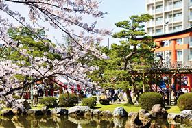 多くの露店がたち並ぶ春の例大祭!